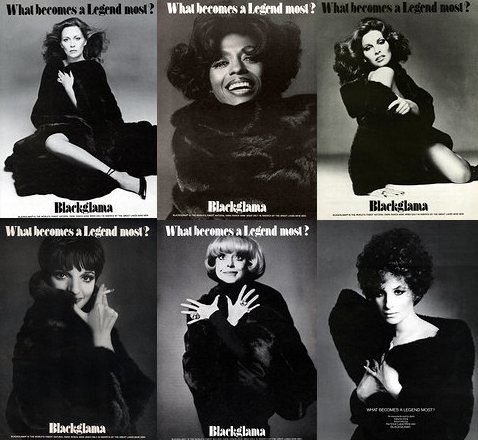 """Blackglama Mink """"What Becomes A Legend Most?"""" Ad Campaign"""