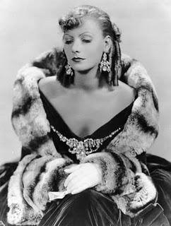 A pensive Greta Garbo from 1930