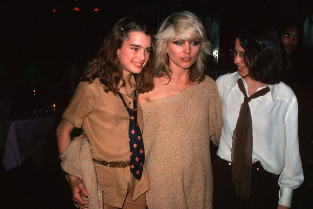 Brooke Shields and Debbie Harry at Studio 54, 1978.