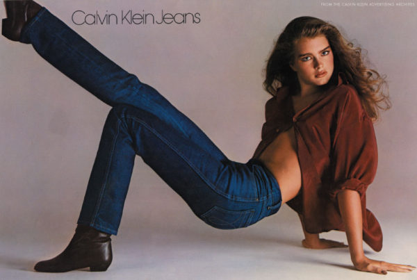 Brooke Shields modelling for Calvin Klein at age 15