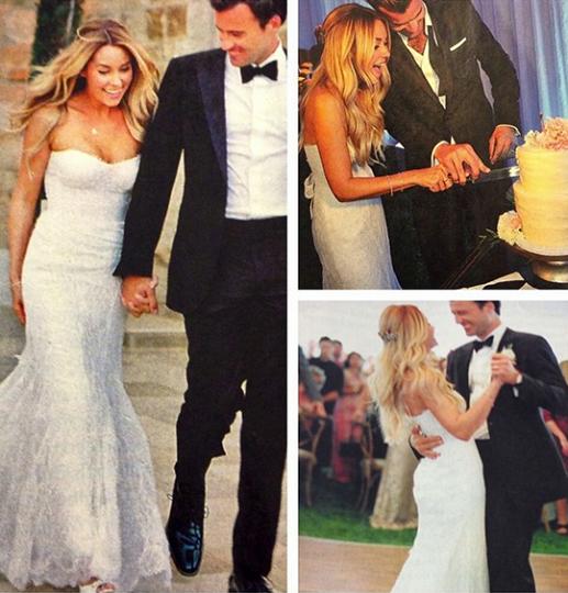Reality star Lauren Conrad wore a Moniwue Lhuillier dress for her own wedding