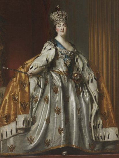 Coronation Portrait of Catherine the Great, by Vigilius Erkisen
