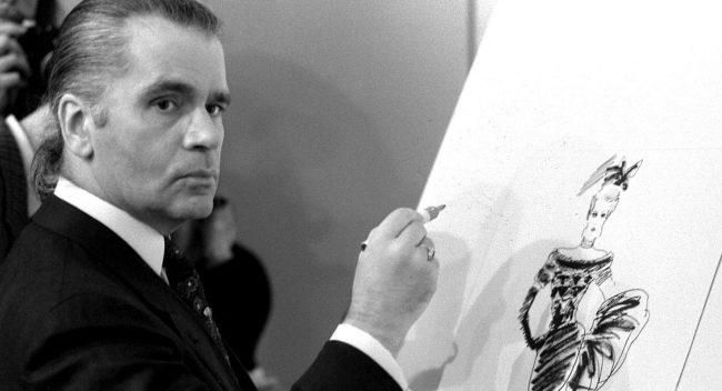 Karl Lagerfeld. (Roland Weihrauch/AP)