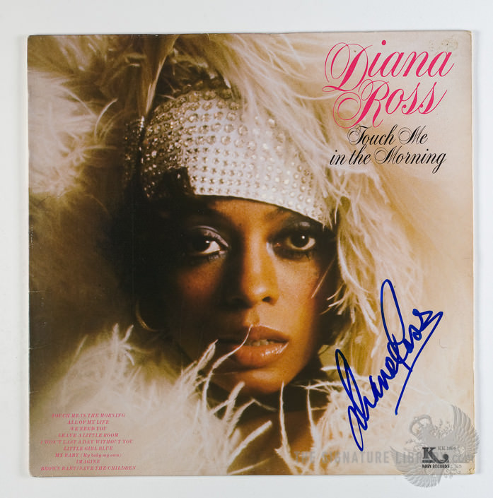 Diana Ross album cover for her 1973 single Touch me in the Morning