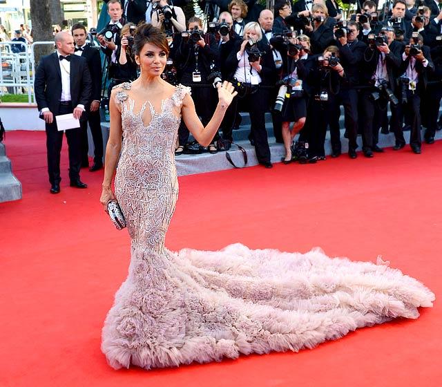 Eva Longoria in Marchesa at Opening Ceremony of 2012 Cannes Film Festival