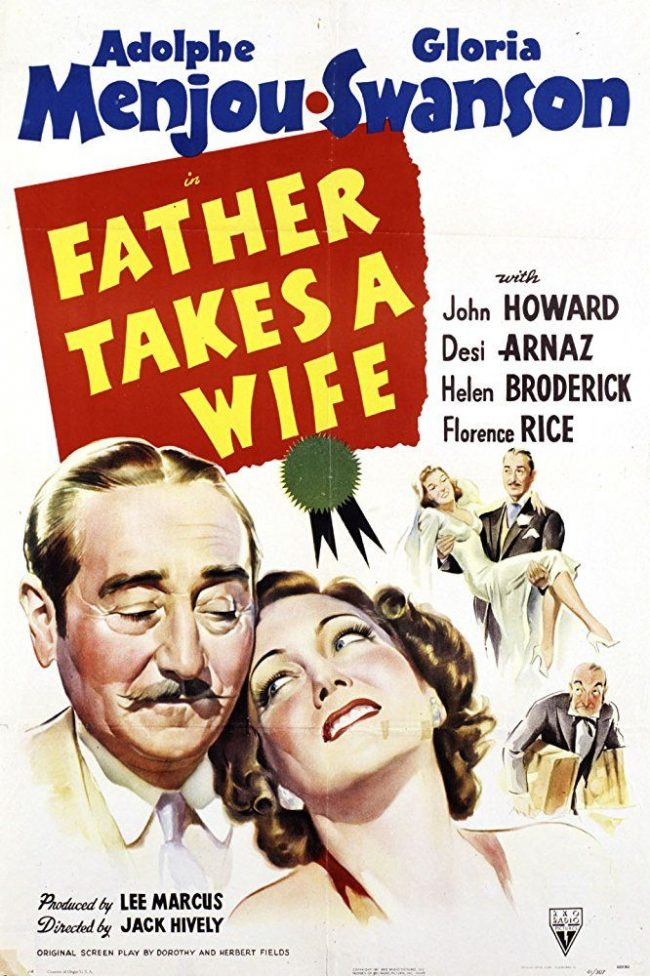 Fur on film -Father Takes A Wife poster - 1941