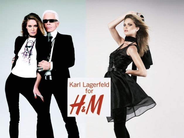 Karl Lagerfeld for H&M, capsule collection 2004
