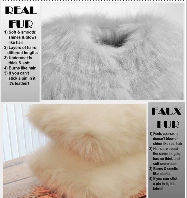 Faux fur vs. real fur