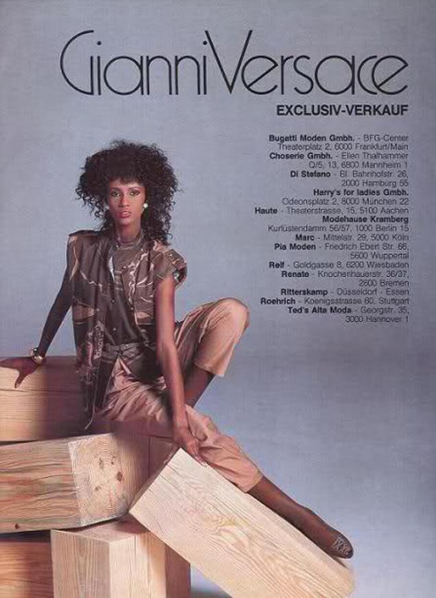 Iman, Gianni Versace Ad
