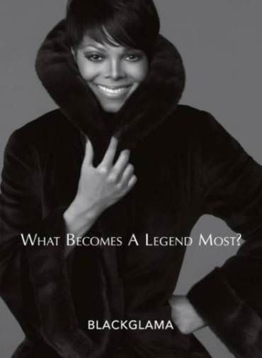 Janet Jackson poses for the BLACKGLAMA ad campaign