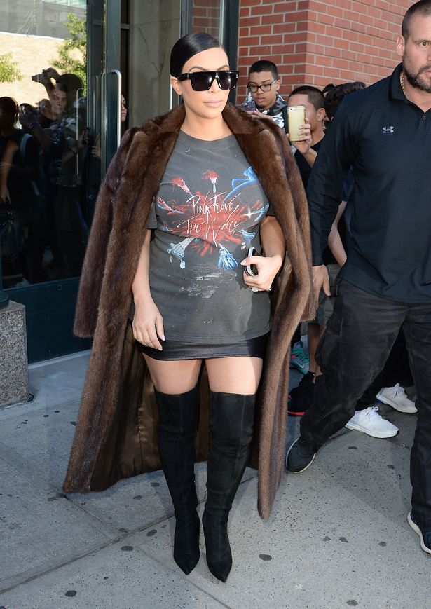 Kim Kardashian occasionally reaches for a classic mink as well