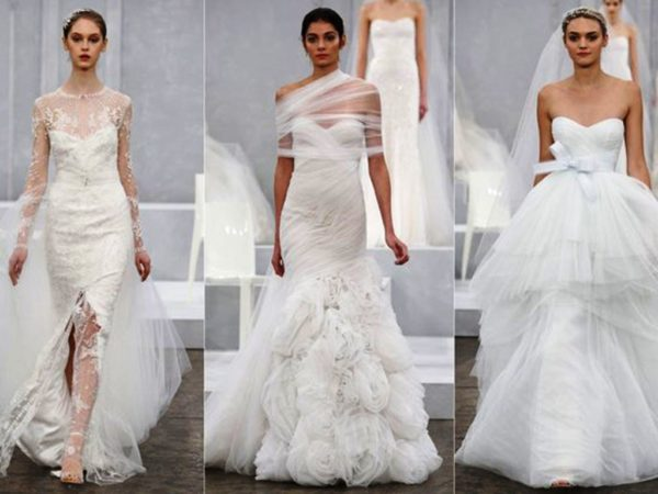 Backstage at Monique Lhuillier Fall 2015 Bridal Collection