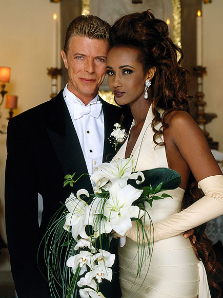 On April 24 1992, the Iman and David Bowie got married in Lausanne, Switzerland