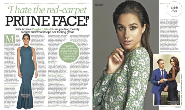 Suits Actress Meghan Markle on Pouting, Beauty Secrets and What Keeps Her Feeling Great in TV Life Magazine