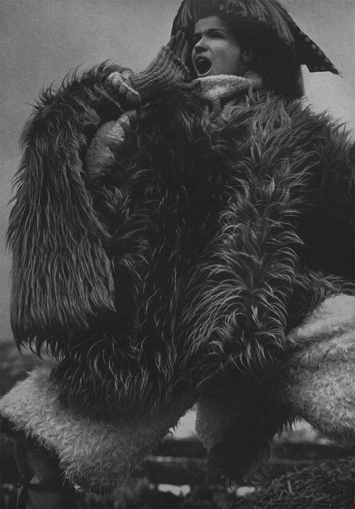 The Great Fur Caravan', the spread was shot on location in the Japanese Alps by Richard Avedon and stars Veruschka. Classic, in every sense.4