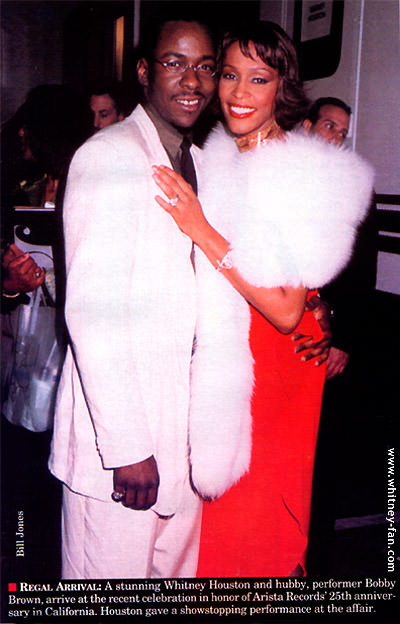 Whitney Houston and her ex-husband Bobby Brown
