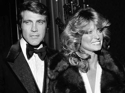 Farrah Fawcett  with her long-time husband lee majors-Barbie and Ken had nothing on this pair