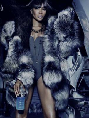 Naomi Campbell wears fur for Dennis Basson