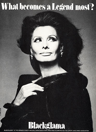 """Sophia Loren- """"What Becomes A Legend Most?"""" Ad Campaign"""